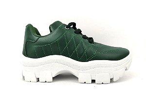 Tênis Chunky Sneaker Verde Militar Clássico Matelassê