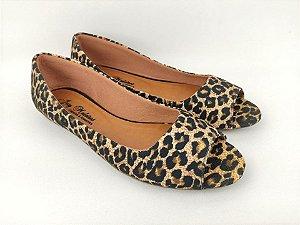 Peep Toe Clássica Lisa Oncinha Animal Print - 3 Pares por 99,90