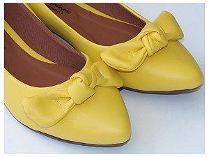 Sapatilha Amarela Nozinho Bico Fino