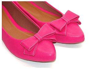 Sapatilha Pink com Laço Médio