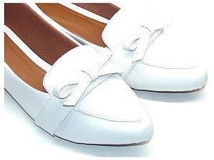 Sapatilha Slipper Branco Off White com Lacinho