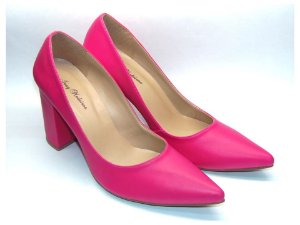 Scarpin Rosa Pink Salto Grosso