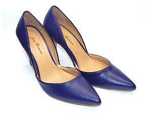 Scarpin Azul com Salto e Bico Fino