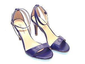 Sandália Azul Clássica com Tira Única