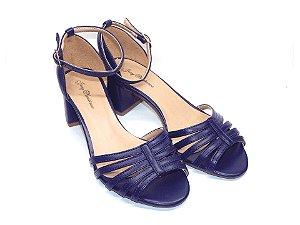 Sandália Azul com Tira Salto Grosso