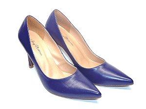 Scarpin Azul Clássico Bico e Salto Fino