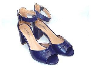Sandália Azul Salto Grosso