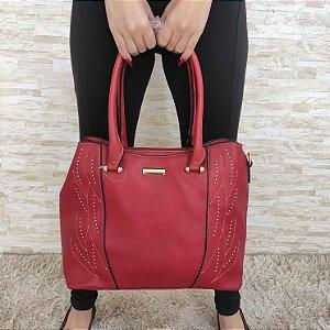 Bolsa Grande Vermelha Fashion