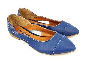 Sapatilha Azul Fosca com Abertura Lateral