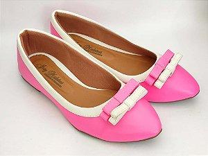 Sapatilha Rosa Pink com Lacinho Duplo