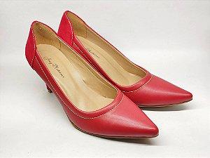 Scarpin Vermelho Salto Alto Fino 7 cm