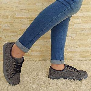 Tênis Casual Jeans Escuro com Solado Emborrachado