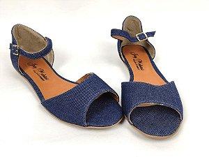 Sandália Rasteira Clássica Jeans - 3 Pares por 99,90