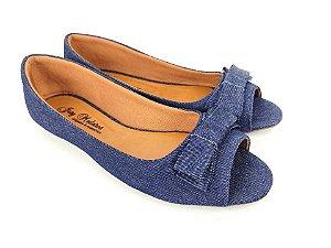 Peep Toe Jeans com Lacinho Pequeno - 3 Pares por 99,90