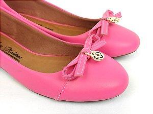 Sapatilha Rosa Pink com Pingente Bico Redondo