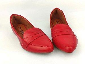 Sapatilha Slipper Vermelha Lisa com Faixa