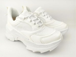 Tênis Chunky Sneaker Branco Total Clássico com Solado 5 cm