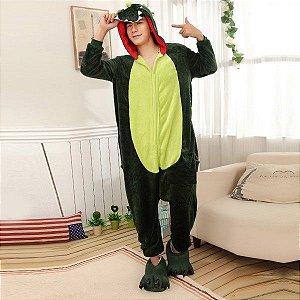 Pijama Fantasia Kigurumi Dinossauro do Jogo Free Fire