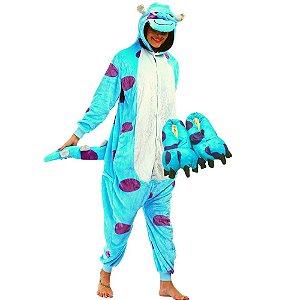 Kit Pijama e Pantufa Sullivan Kigurumi Monstros SA