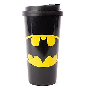 Copo com tampa Batman Logo Morcego DC Comics 500ml