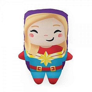 Almofada Cute Captain Marvell Capitã Decoração Geek com Enchimento