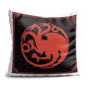Almofada de House Dragão GOT Decoração Geek com Enchimento