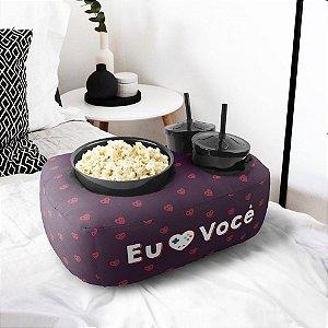 Kit Almofada Dia dos Namorados + Balde Porta Pipocas + 2 Copos