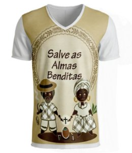 Camiseta Preto-Velho - Salve as Almas Benditas