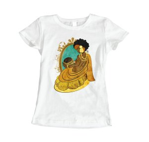 Camiseta Baby Look Oxum - Rainha do Ouro