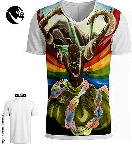Camiseta Full Oxumarê - Nuvem de Arco-íris