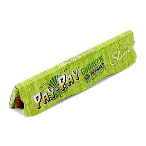 PAPEL PARA CIGARRO PAY-PAY GO GREEN SLIM  (PAPEL ALFALFA)