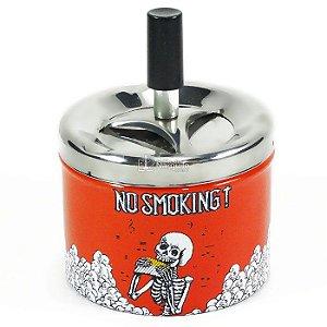 CINZEIRO REDONDO COM TAMPA GIRATÓRIA - NO SMOKING