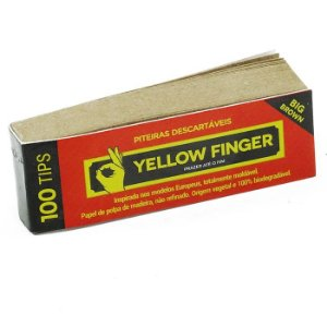 PITEIRA DE PAPEL YELLOW FINGER BROWN BIG 100 TIPS