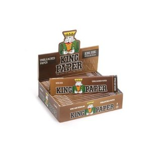 PAPEL PARA CIGARRO KING PAPER BROWN - KING SIZE (Caixa com 20)
