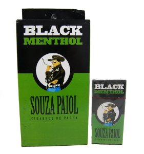 CIGARRO DE PALHA SOUZA PAIOL BLACK MENTHOL