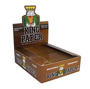 PAPEL PARA CIGARRO KING PAPER BROWN - MINI SIZE UNBLEACHED PAPER 50 FOLHAS
