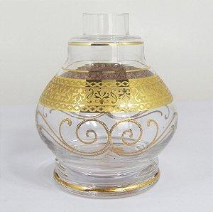 VASO PEQUENO TITAN GLASS JUMBINHO INCOLOR E DOURADO