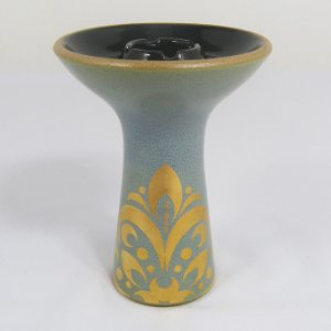 ROSH MUKABOWL ARABIC TURQUESE BLUE AND GOLD