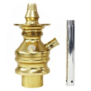 STEM HOOKAH KING TOWER GOLD - DOURADO