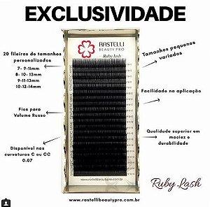 Cílios Ruby (kim kardashian) Mix Luxo - 0.07 - Curvatura C -  Com 20 Fileiras