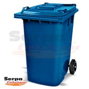 Coletor de Lixo com Tampa 240 Litros Azul