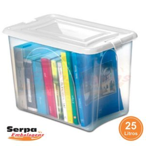 Caixa Organizadora Transparente Plástica Empilhável
