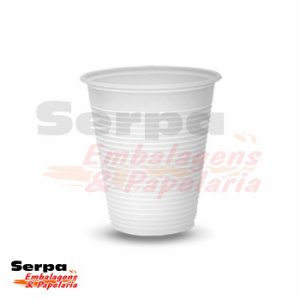 Copo Plástico 180ml Branco ou Transparente - Caixa 2.500 ou Pacote 100 unidades TOTALPLAST