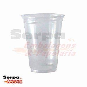 Copo Plástico 330ml LISO PP Transparente - Caixa 1.000 ou Pacote 50 unidades - COPOZAN