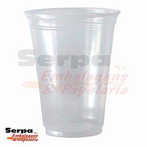 Copo Plástico 550ml LISO PP Transparente - Caixa 1.000 ou Pacote 50 unidades - COPOZAN