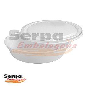Marmita de Isopor com Tampa 500ml - FM50 - Caixa 100 pcs - FIBRAFORM