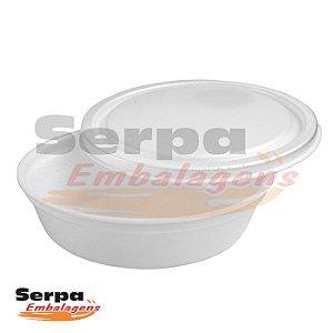 Marmita de Isopor com Tampa 1100ml REF04 - Caixa 100 Unidades - SPUMAPAC