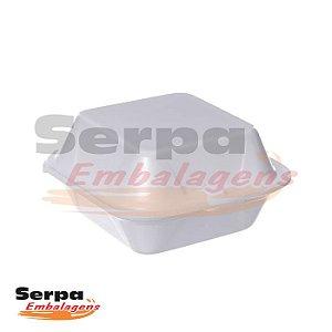 Hamburgueira de Isopor HF01 - Caixa 100 ou 400 unidades - FIBRAFORM
