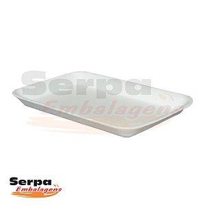Bandeja de Isopor Branca BDJ02 - Caixa 100 ou 400 unidades - SPUMAPAC