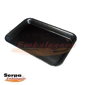 Bandeja de Isopor Preta - M3 - Caixa 100 ou 400 unidades - MEIWA